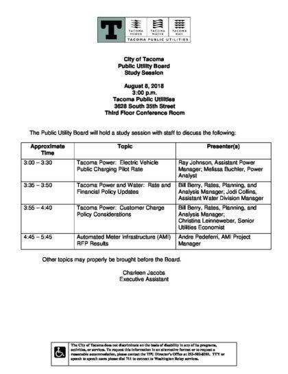 2018-aug-8-agenda-study-session - Tacoma Public Utilities
