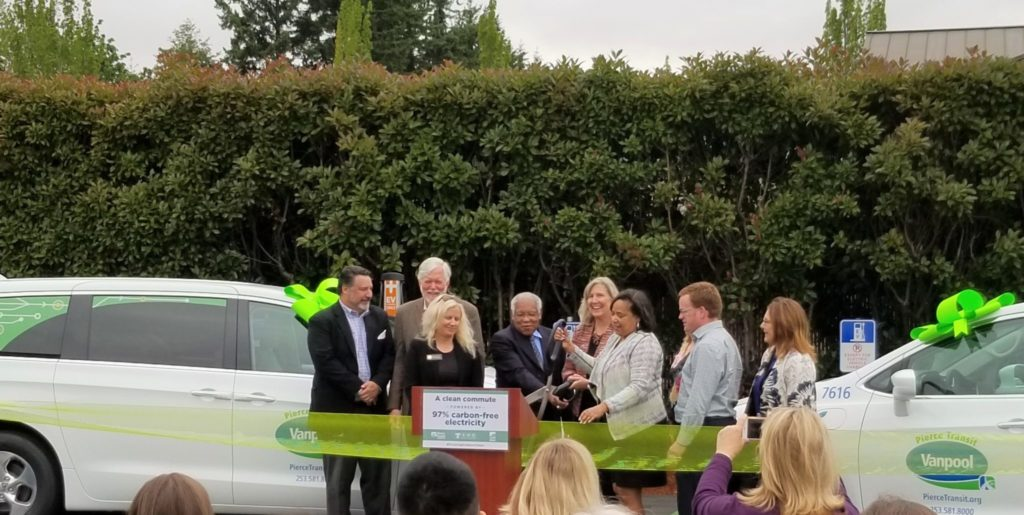 Pierce Transit, Tacoma Public Utilities roll out South Sound's first electric vanpools 2
